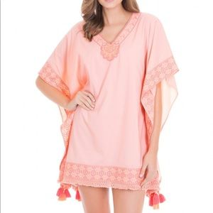 Cabana Life Embroidered Cover-Up Large New